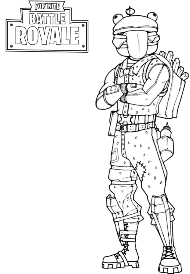 All Fortnite Skins Coloring Pages 1