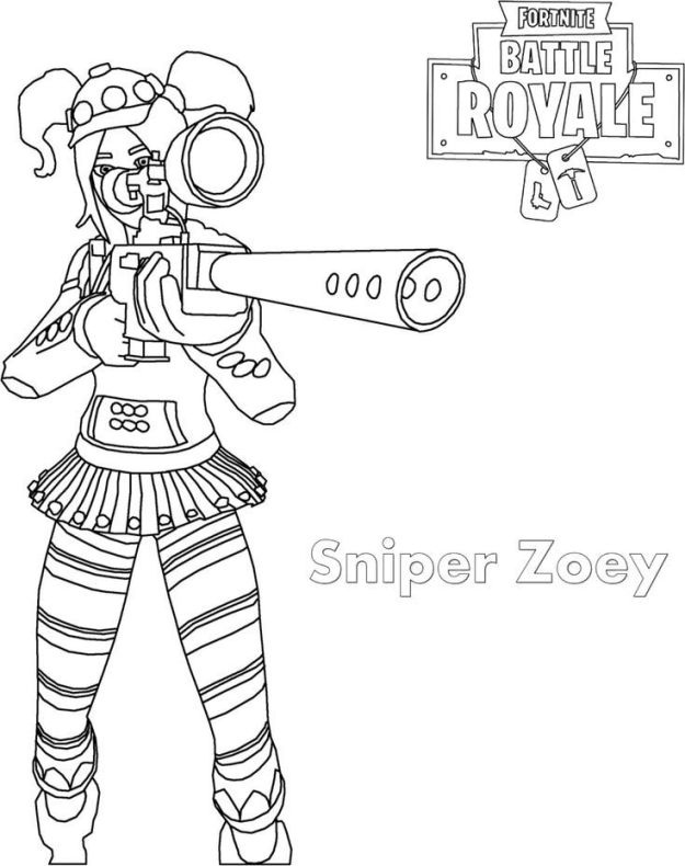 All Fortnite Skins Coloring Pages 2