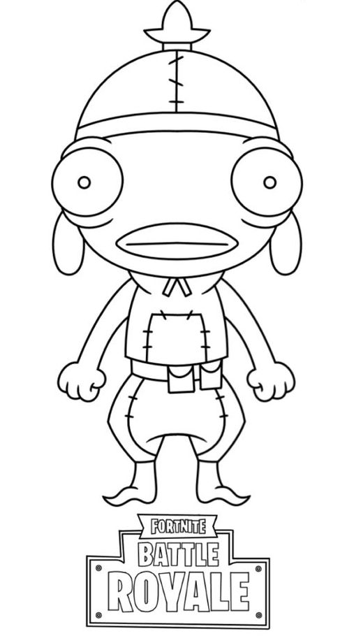 Fortnite Coloring Pages Fishstick 1