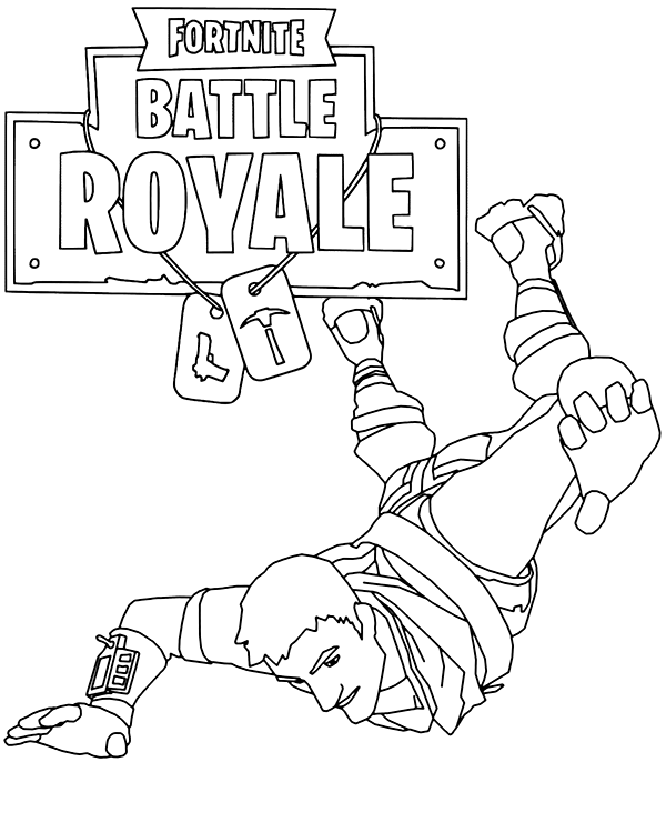 Fortnite Coloring Pages Free Online