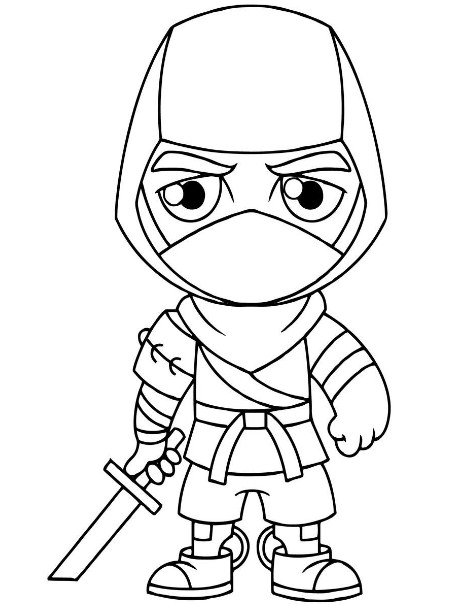 Fortnite Coloring Pages Ninja Character 1