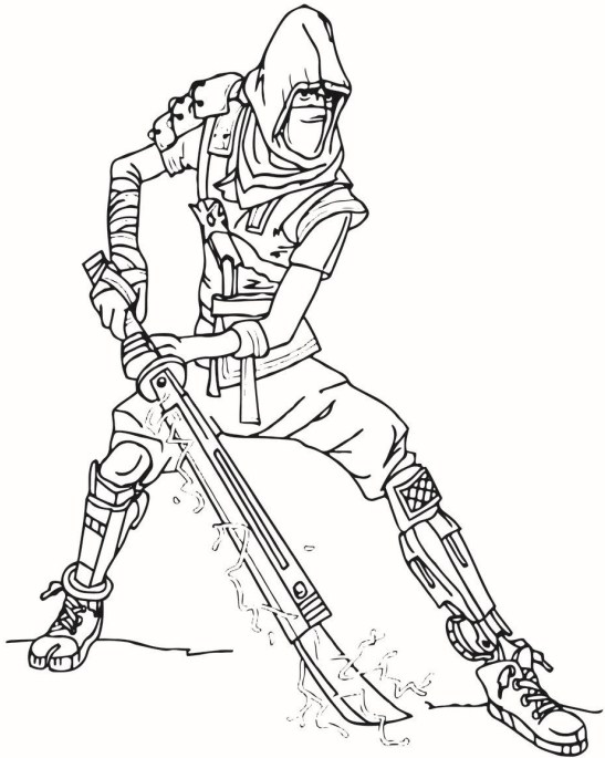 Fortnite Coloring Pages Ninja Character 2