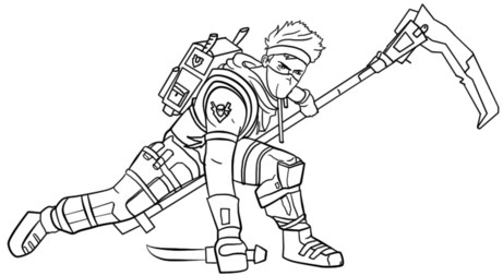 Fortnite Coloring Pages Ninja Character 3