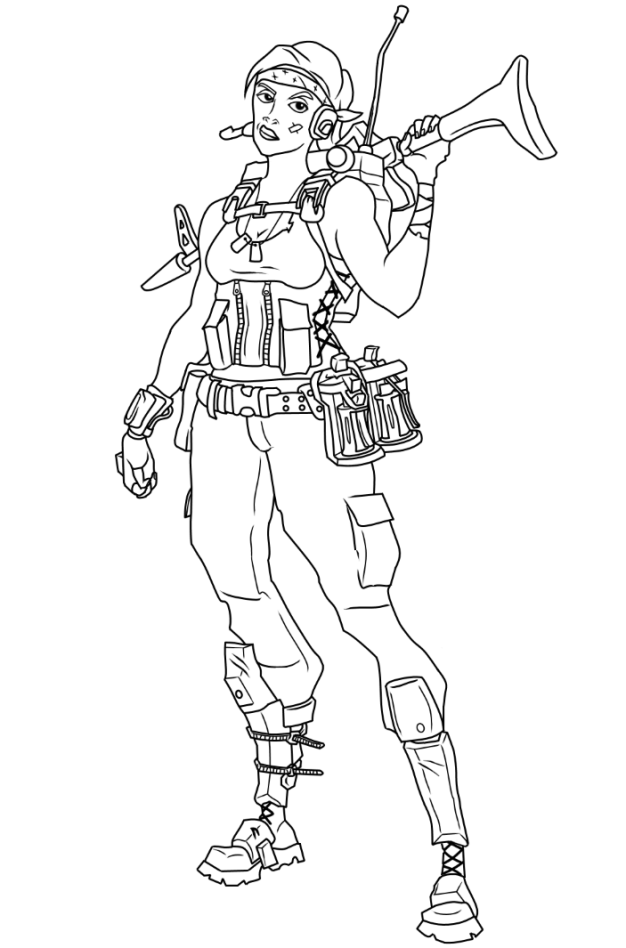 Fortnite Girls Coloring Pages 3