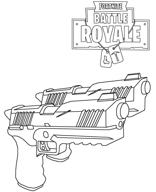 Fortnite Guns (Weapon) Coloring Pages 3