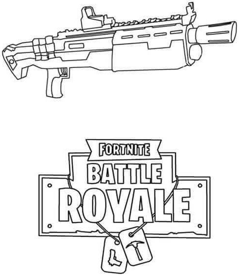 Fortnite Guns (Weapon) Coloring Pages 4
