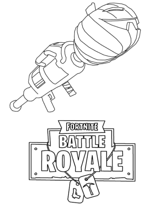 Fortnite Guns (Weapon) Coloring Pages 5