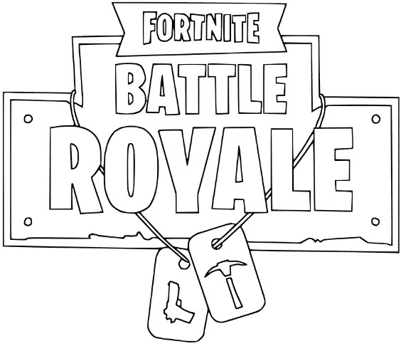 Fortnite Logo Coloring Page 2