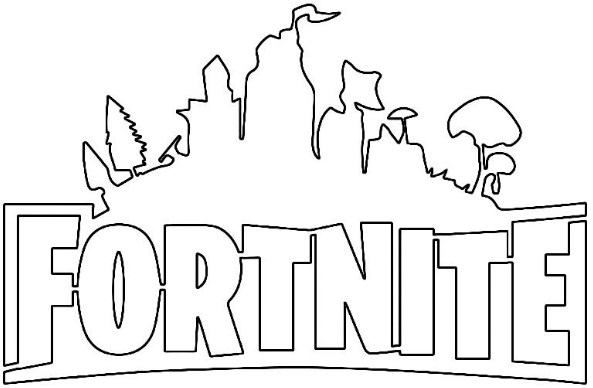 Fortnite Logo Coloring Page 3