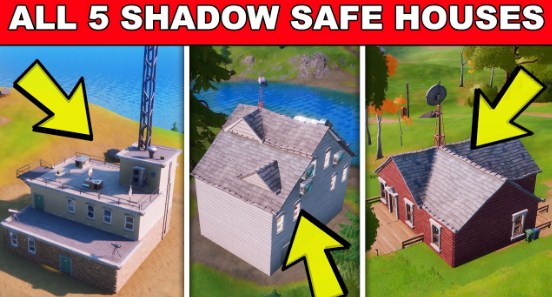 All Shadow Safe House Locations In Fortnite Fortnite News