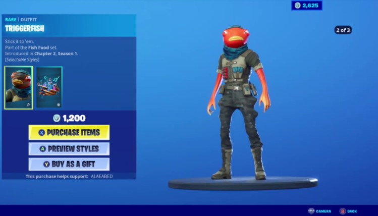 How Much Does Triggerfish Cost in Fortnite