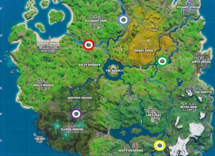 Where to Find 5 Colored Bridges in Week 3 Challenge