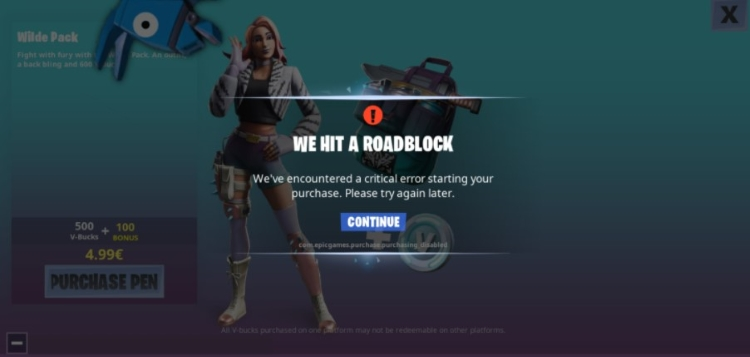 com.epicgames.purchase.purchasing disabled