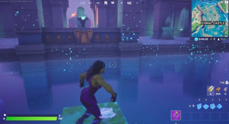 lowest point in Fortnite