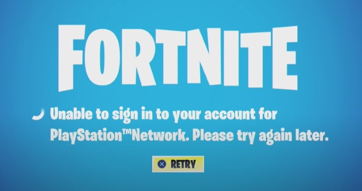 Fortnite Unable to Sign in to Account for Playstation Network